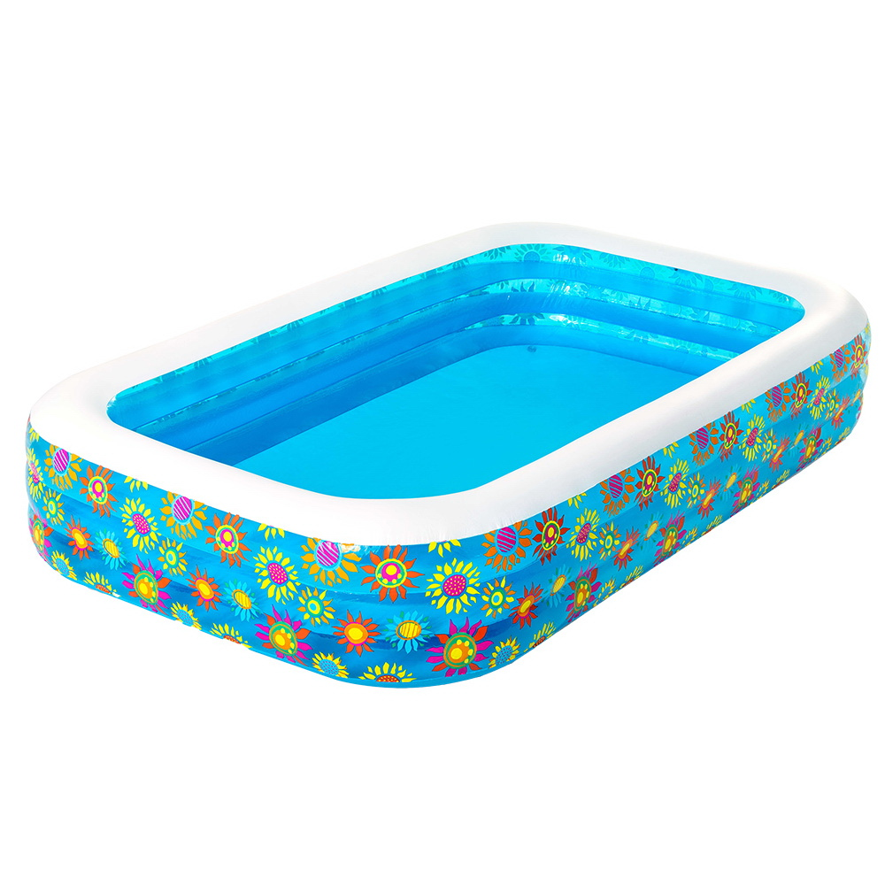 Bestway Inflatable Kids Play Pool Swimming Pool Rectangular Family Pools