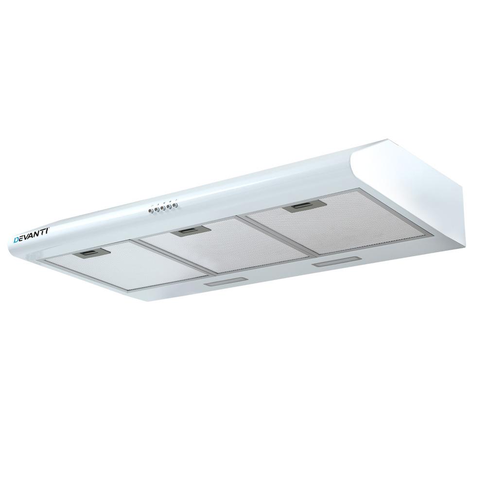 Devanti Fixed Range Hood Rangehood Kitchen Canopy 90cm 900mm White