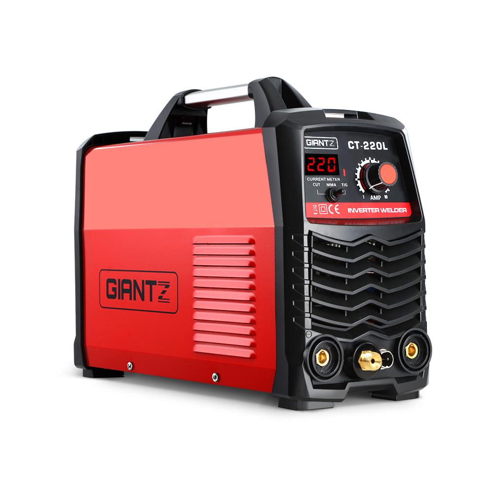 GIANTZ Plasma Cutter TIG GAS IGBT DC Inverter Welder 50A Portable Welding 220Amp